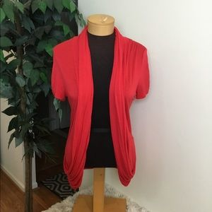 .⭐️ Rue 21 red L  open front lightweight Cardigan